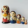 Матрьошка українська сім'я , дерево , авторський розпис , 18 див.