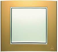 Выключатель 1-клавишный универсальный Berker B.3 золото/полярная белизна