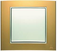 Выключатель 1-клавишный Berker B.3 золото/полярная белизна
