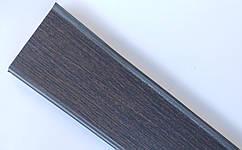 Плинтус пластиковый Идеал Деконика 85 мм 303 Венге Темный, с мягкими краями, высокий, с кабель каналом