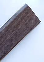 Плинтус пластиковый Идеал Деконика 85 мм 351 Каштан, с мягкими краями, высокий, с кабель каналом
