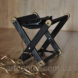 Складная подставка для сумки, черная с золотыми элементами