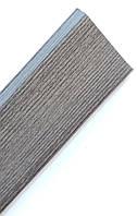 Плинтус пластиковый Идеал Деконика 85 мм 352 Каштан Серый, с мягкими краями, высокий, с кабель каналом