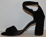 Босоножки замшевые на каблуке от производителя модель КА21-03, фото 3