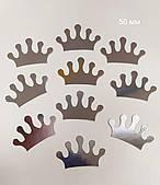 Декор бумажный коронки 50 мм серебро 30шт/уп