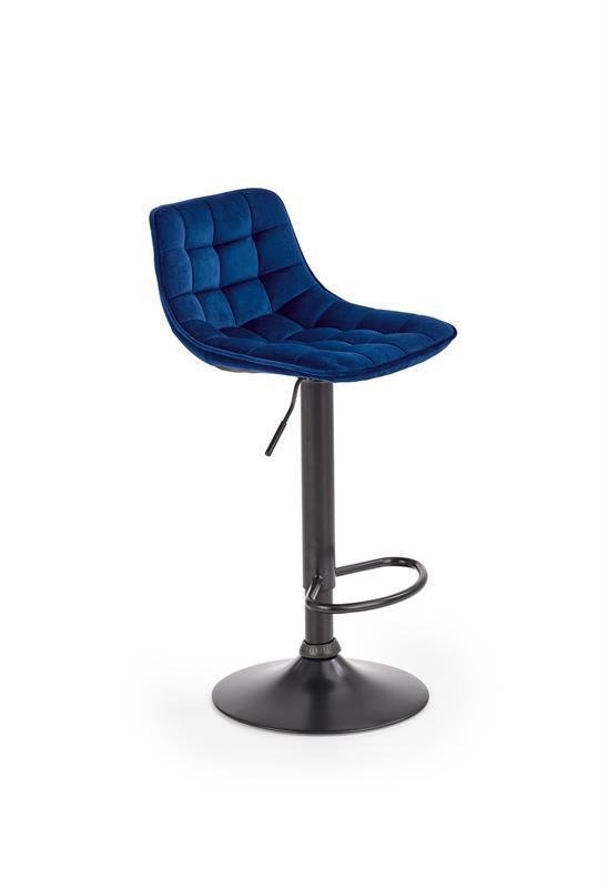 Стілець барний H95 синій/чорний (Halmar)