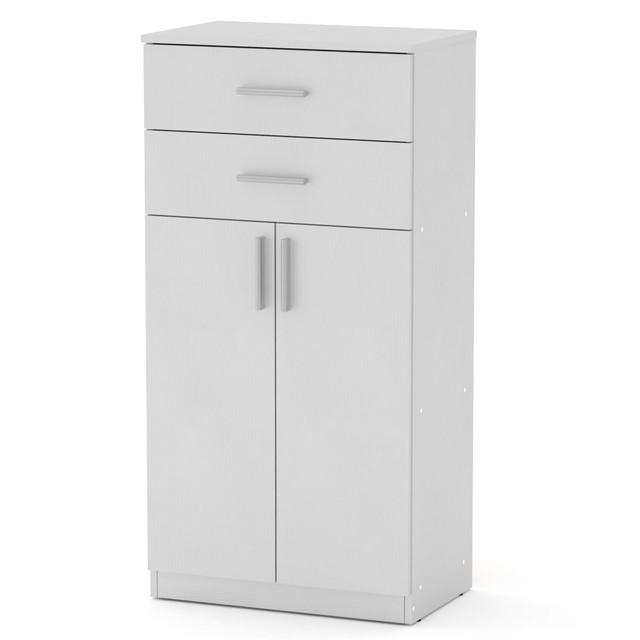 Шкаф книжный КШ-14 белый Компанит (61х37х120 см), фото 1