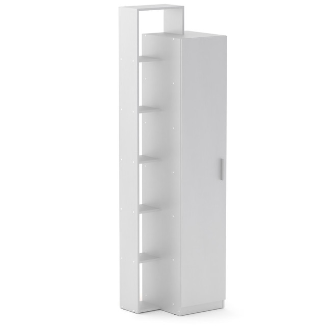 Шкаф книжный 8 белый Компанит (60х46х215 см), фото 1