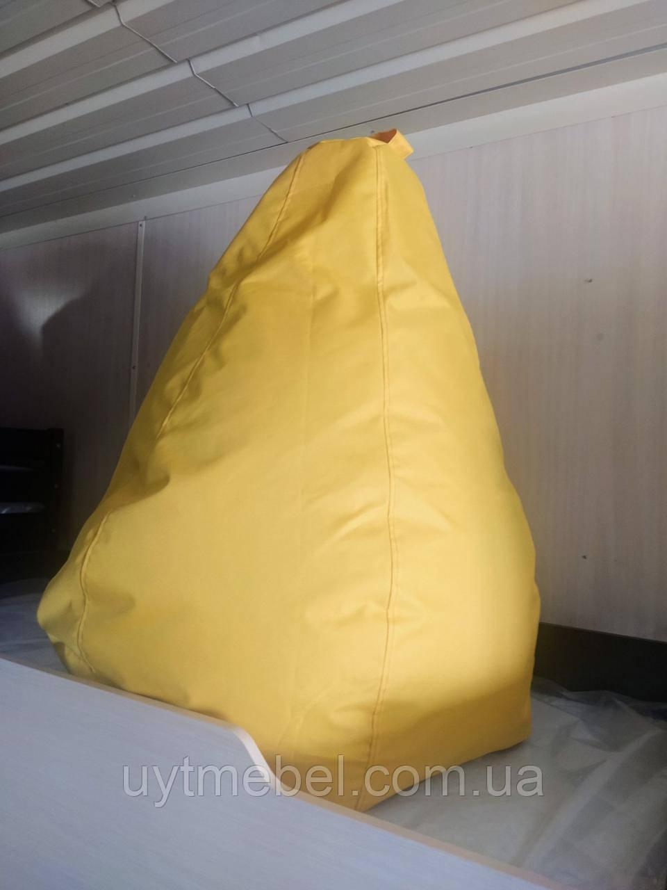 Крісло-мішок Груша жовтий (ПП Гайворонський)