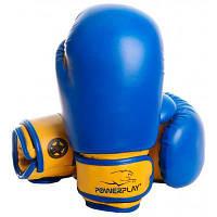 Боксерские перчатки PowerPlay 3004 JR 6oz Blue/Yellow (PP_3004JR_6oz_Blue/Yellow)