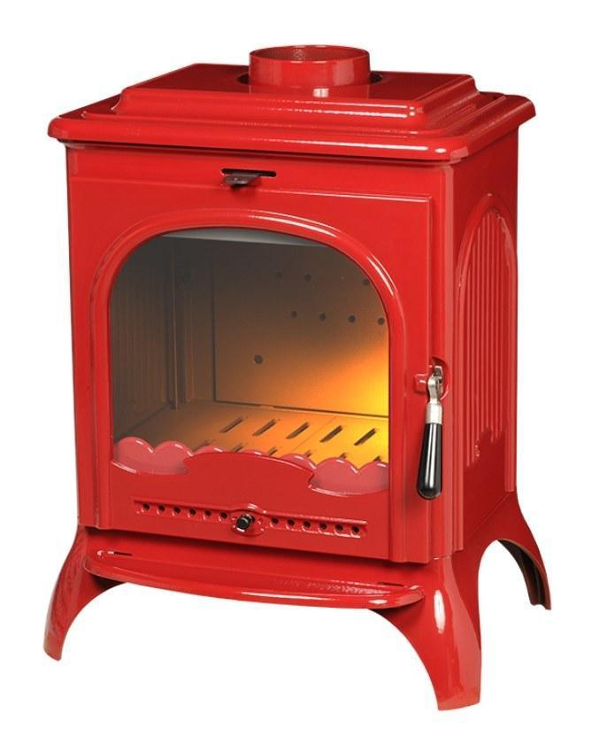 Печь на дровах Invicta Seville 2 эмаль красная