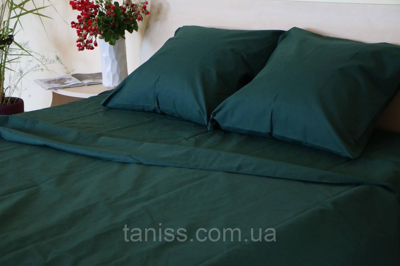 Двоспальний набір постільної білизни Бязь Голд, колір як на фото, зелений