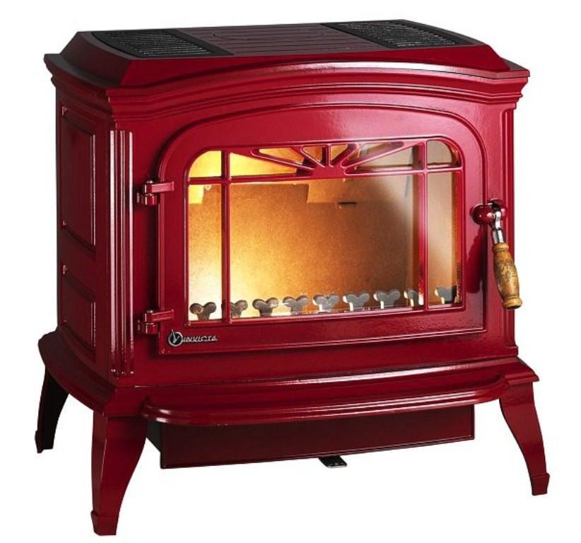 Печь на дровах Invicta Bradford эмаль красная