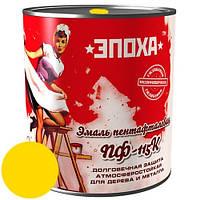 Антикорозионная краска Эмаль ПФ-115к, 0.9 кг, Жовта