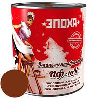 Антикорозионная краска Эмаль ПФ-115к, 0.9 кг, Червоно-коричнева