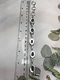 Аквамарин браслет с аквамарином в серебре производство Индия, фото 9