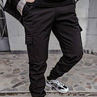 Костюм мужской черный демисезонный Softshell Easy куртка и штаны SKL59-290653, фото 5