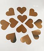 Декор бумажный сердечки 50 мм золото 30шт/уп