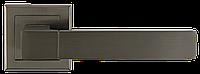 """Дверные ручки на квадратной розетке A-2004 МА (Матовый антрацит), нажимные от ТМ """"MVM"""""""
