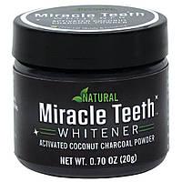 Черный отбеливающий порошок для зубов Miracle Teeth Whitener зубной порошок отбеливающий (зубний порошок)