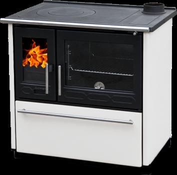 Чугунная и сталная печь-камин PLAMEN 850 GLAS-белый 10кВт печи чугунные отопительно варочные для дома и дачи