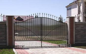 Ворота розпашні, зашивання полікарбонат