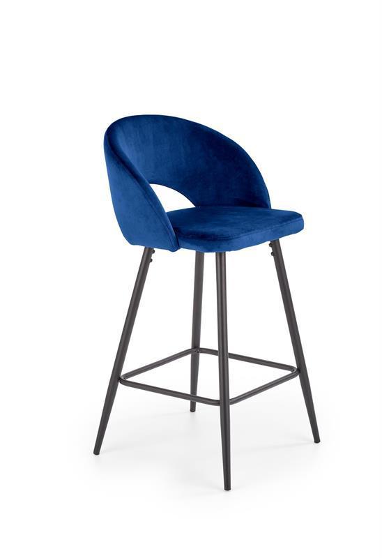 Стілець барний H96 синій (Halmar)