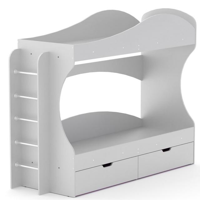 Кровать двухъярусная Бриз белый Компанит, фото 1