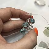 Аквамарин кільце з аквамарином в сріблі 18 + - регулюється розмір Індія, фото 7