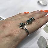 Аквамарин кольцо с аквамарином в серебре 18 + - регулируется размер Индия, фото 6