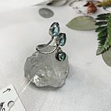 Аквамарин кольцо с аквамарином в серебре 18 + - регулируется размер Индия, фото 2
