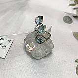 Аквамарин кольцо с аквамарином в серебре 18 + - регулируется размер Индия, фото 3