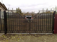 Ворота розпашні, зашивання полікарбонат, фото 3