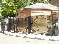 Ворота распашные, зашивка поликарбонат, фото 4