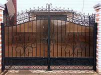 Ворота розпашні, зашивання полікарбонат, фото 5