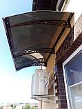 Готовий збірний дашок 2,05х1,5 м Хайтек з монолітний полікарбонатом 3 мм, фото 2