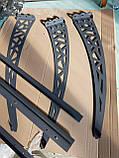 Готовий збірний дашок 2,05х1,5 м Хайтек з монолітний полікарбонатом 3 мм, фото 9