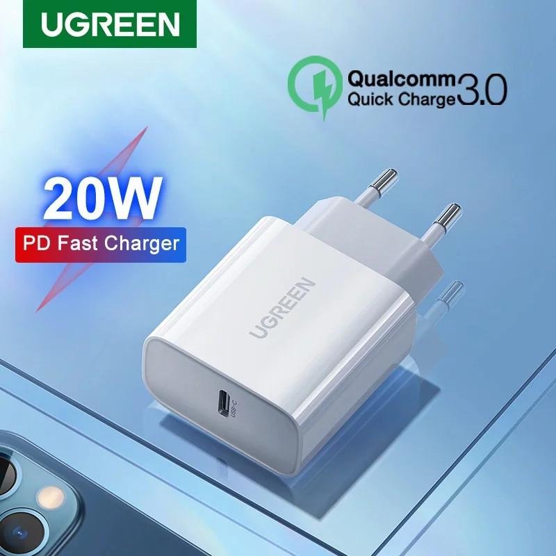 Універсальний зарядний пристрій UGREEN CD137 USB-C 20 вт Power Delivery 3.0 Qualcomm Quick Charge 4.0 White
