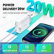 Универсальное зарядное устройство UGREEN CD137 USB-C 20 вт Power Delivery 3.0 Qualcomm Quick Charge 4.0 White, фото 2