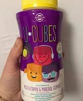 Витамины для детей Solgar U-Cubes Children's Multi-Vitamin Mineral 60 конфет