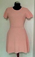 Короткое платье кор рукав молодежное клешеное бренд копия