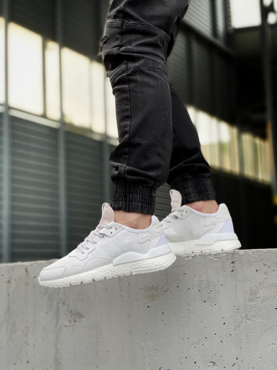 Чоловічі кросівки Adidas Nite Jogger (білі) J3305 легкі зручні стильні кроси