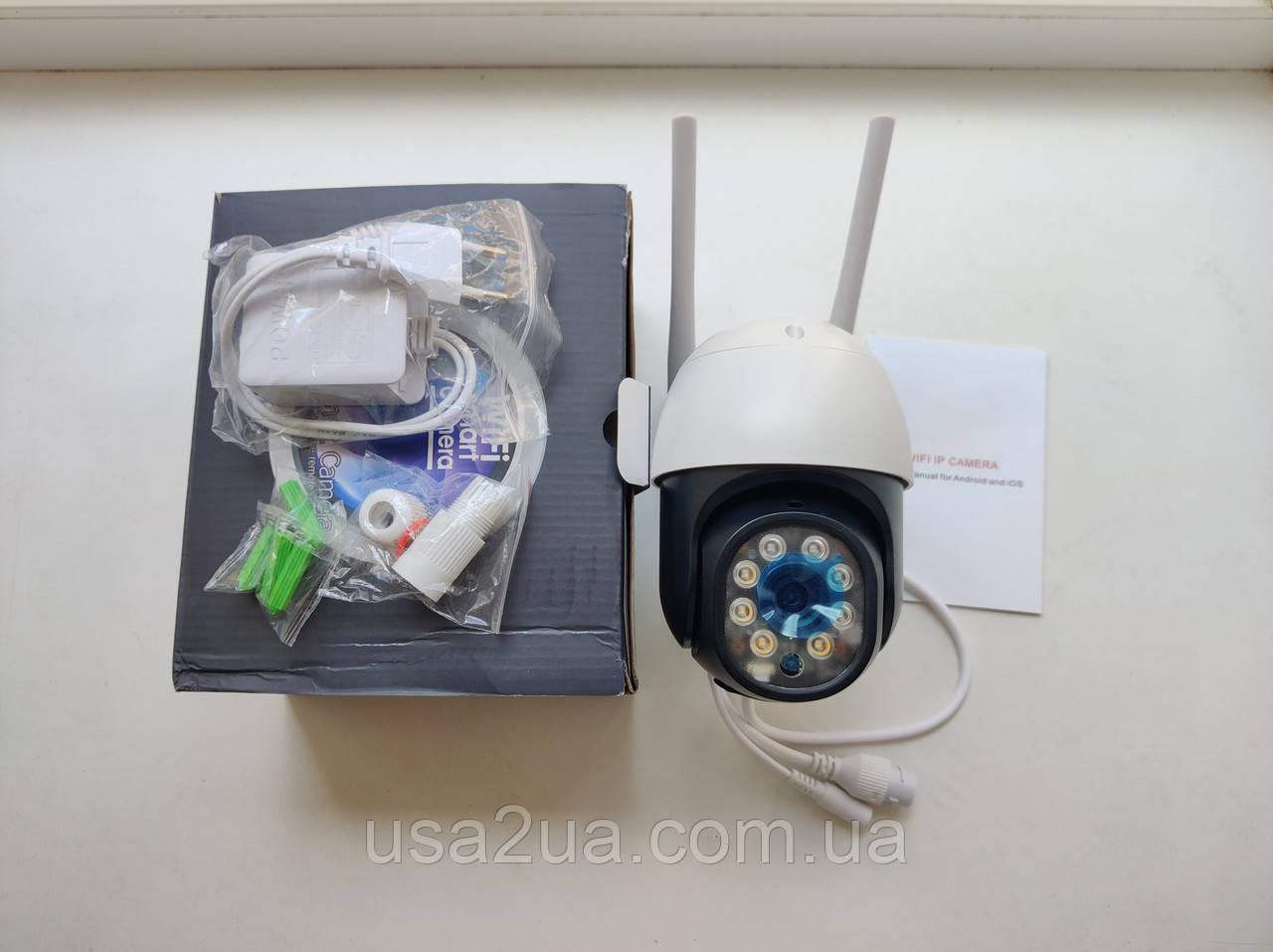 Беспроводная поворотная 3 Мп уличная IP WiFi камера Besder BES-A8-3MP 1536P Onvif. iCSee гарантия кредит