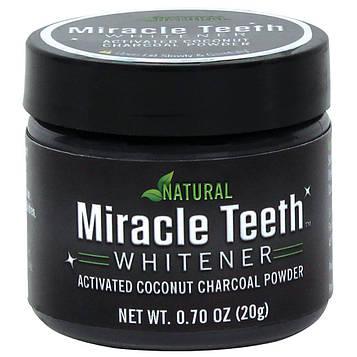 Чорний вибілюючий порошок для зубів Miracle Teeth Whitener зубний порошок відбілюючий (зубний порошок) (SV)