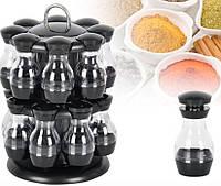 Набор баночек для хранения специй Rotating Spice Rack 16 в 1, Карусель для специй