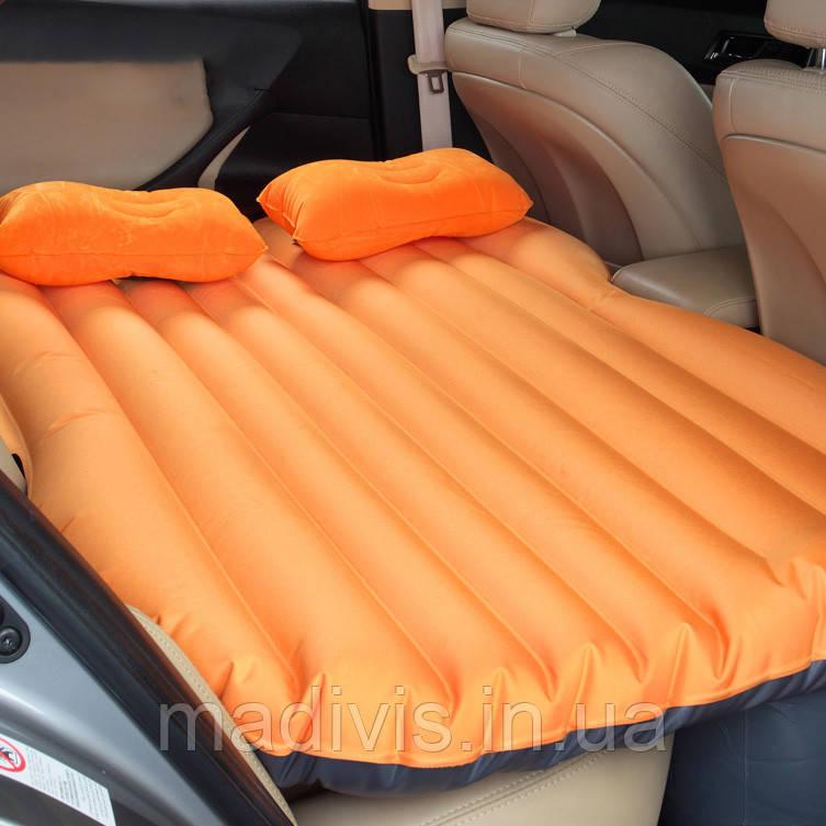 Надувний матрац в машину на заднє сидіння з насосом