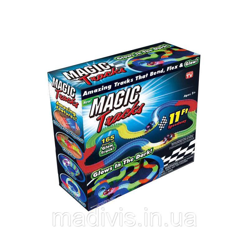 Іграшкова залізниця MAGIC RACING TRACKK, 165 деталей
