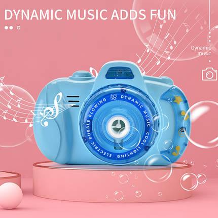 Фотоапарат для створення мильних бульбашок Bubble Camera 999 Блакитний, фото 2