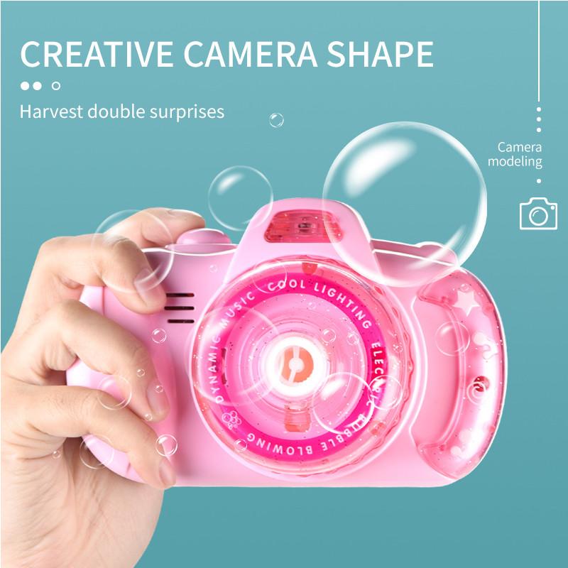 Фотоапарат для створення мильних бульбашок Bubble Camera 999 Рожевий