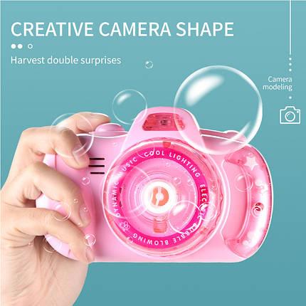 Фотоапарат для створення мильних бульбашок Bubble Camera 999 Рожевий, фото 2